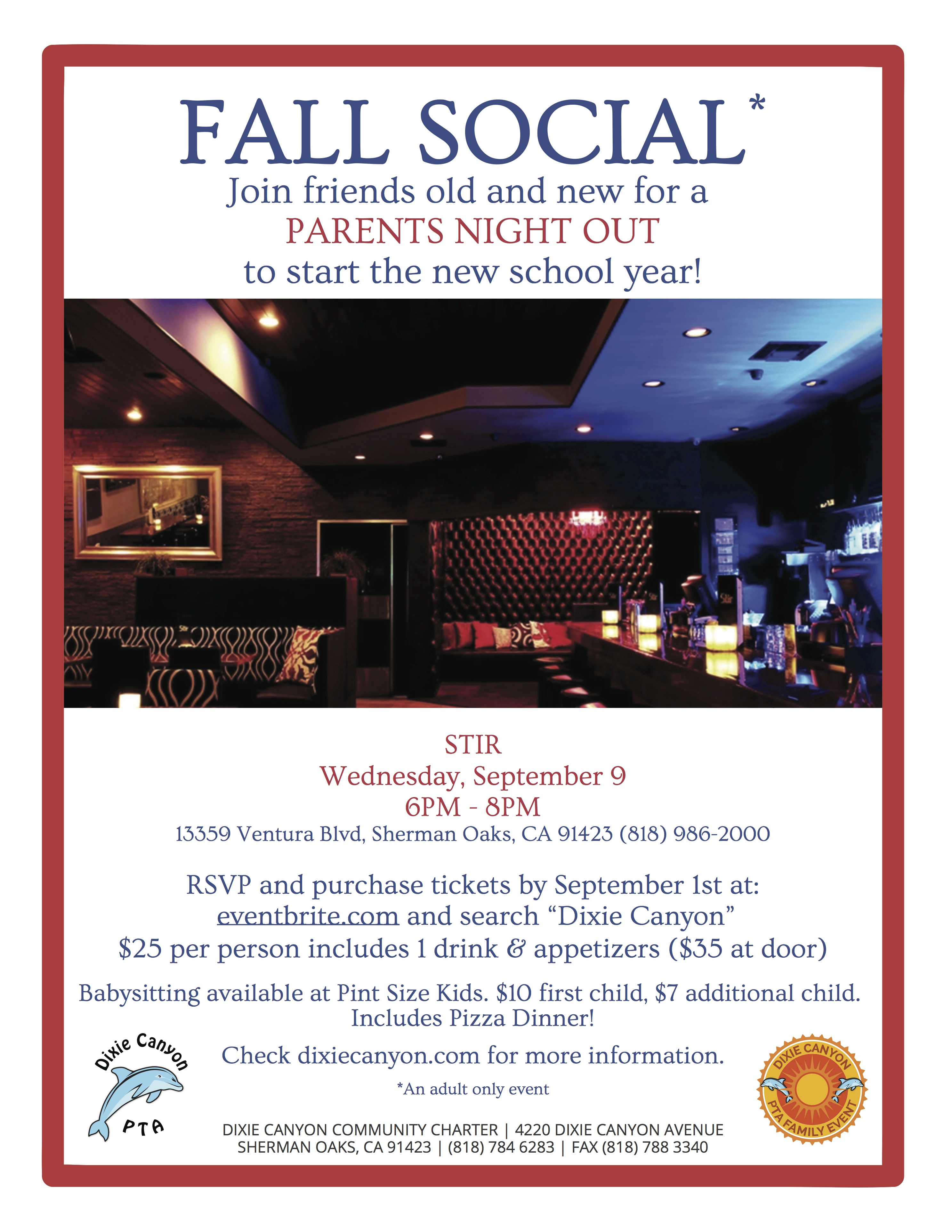 get your fall parent social tickets 8 20 15 dixie canyon stir 2016 flyer
