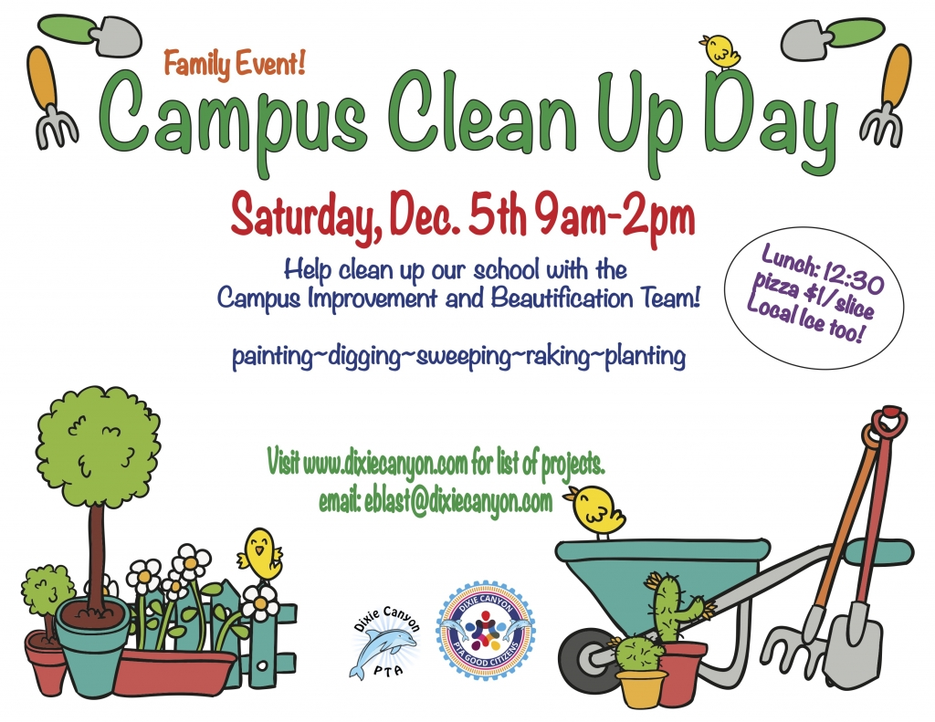 Campus clean up day color